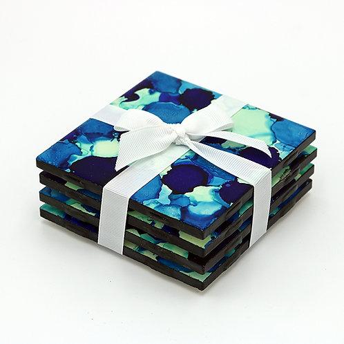 Ocean Blue Coasters (set of 4)