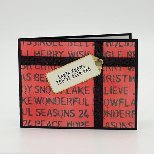 Naughty Present Holiday Greeting Card