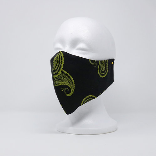 Black Paisley Mask