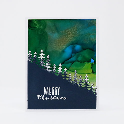 Christmas Aurora Greeting Card