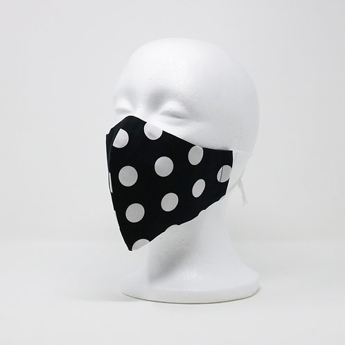 Black Polka Dot Mask