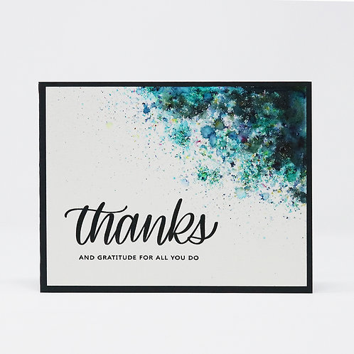 Thanks & Gratitude Greeting Card