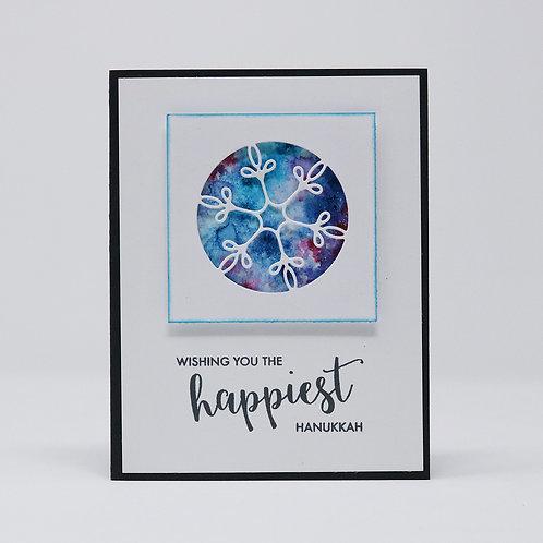 Happiest Hanukkah Greeting Card