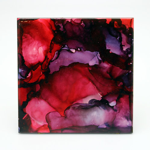 Crimson Chaos II Ceramic Trivet
