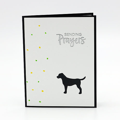 Sending Prayers (Labrador) Greeting Card