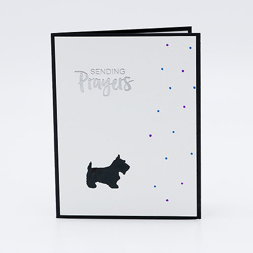 Sending Prayers (Terrier) Greeting Card