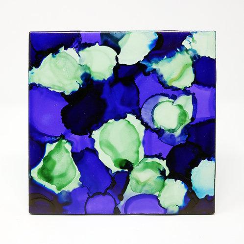 Moonlit Pond Ceramic Trivet