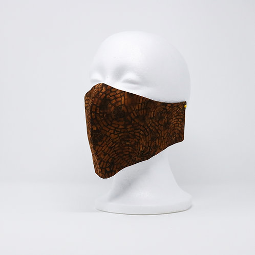 Brown Cobblestone Batik Mask