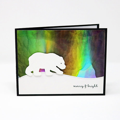 Northern Lights Bear Greeting Card