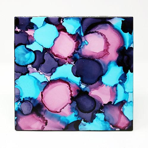 Moody Blue Ceramic Trivet