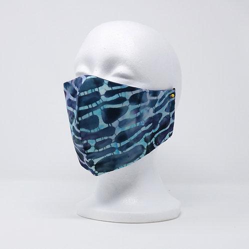 Blue Spotted Batik Mask