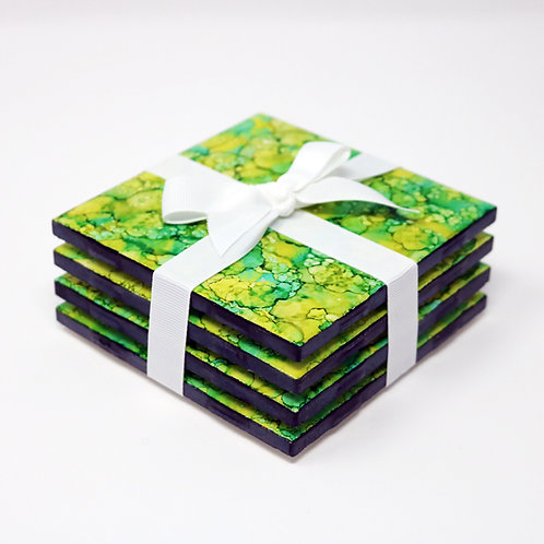 Grassy Hill Coasters (set of 4)