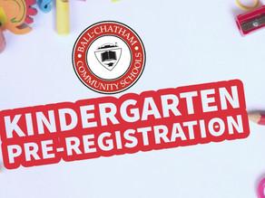 Online Kindergarten Pre-Registration Closes February 16