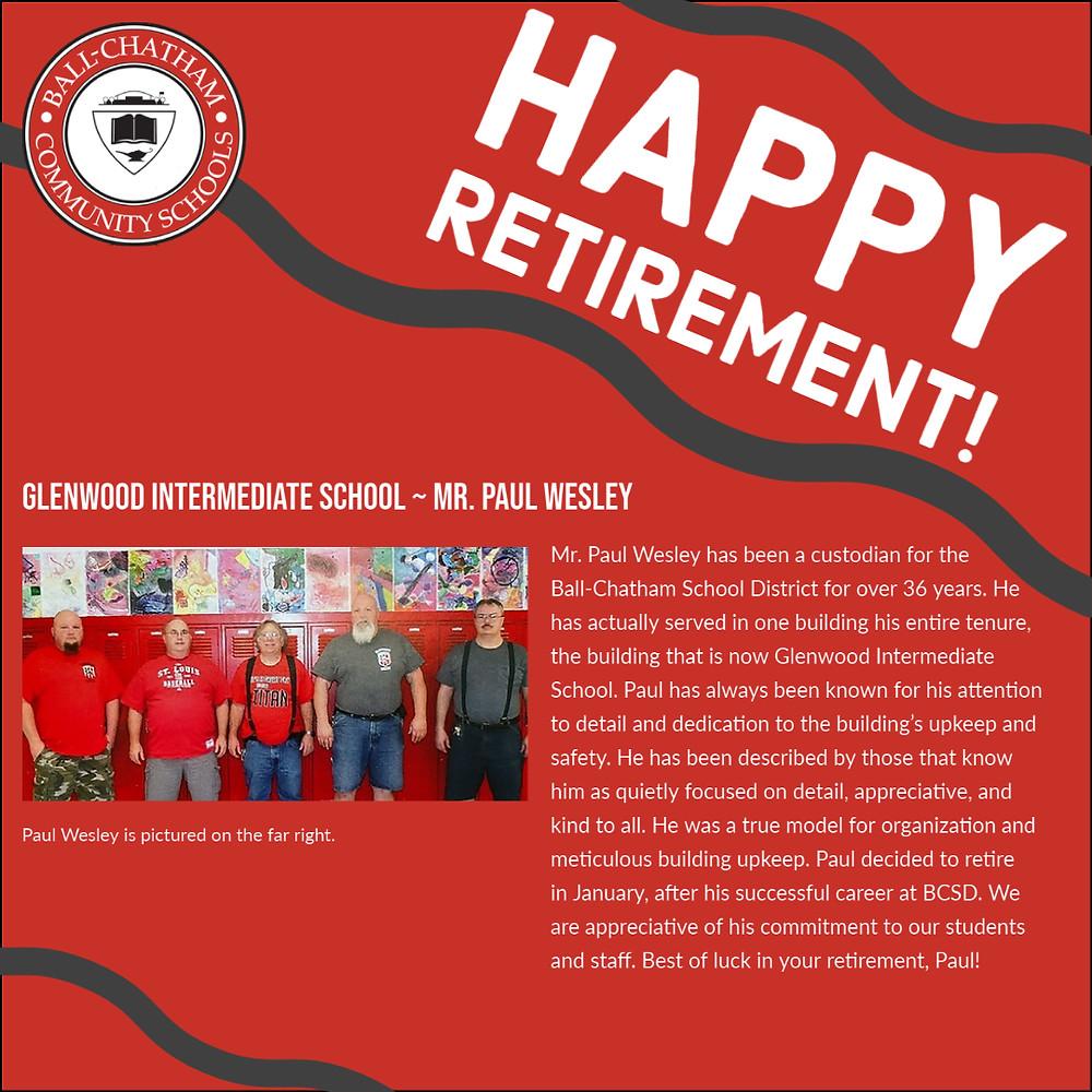 Paul Wesley retirement graphic