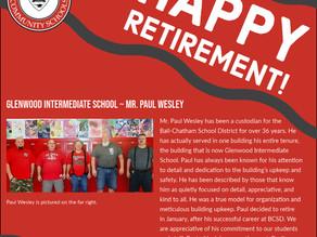 Honoring Glenwood Intermediate School's Retirees