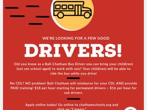 Ball-Chatham is Hiring Bus Drivers!