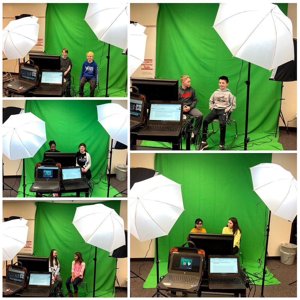 GIS students use green screen technology