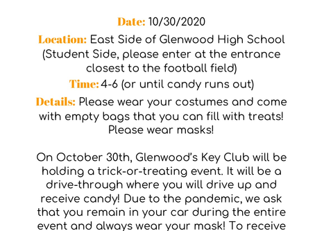 Key Club to Host Trick-or-Treat Drive Through!