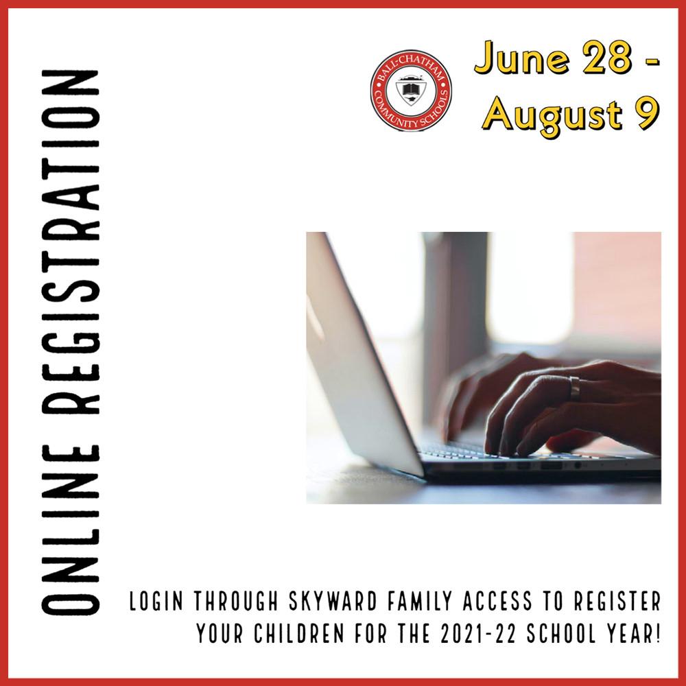 Online Registration advertisement