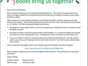 GMS Book Fair October 4-8!