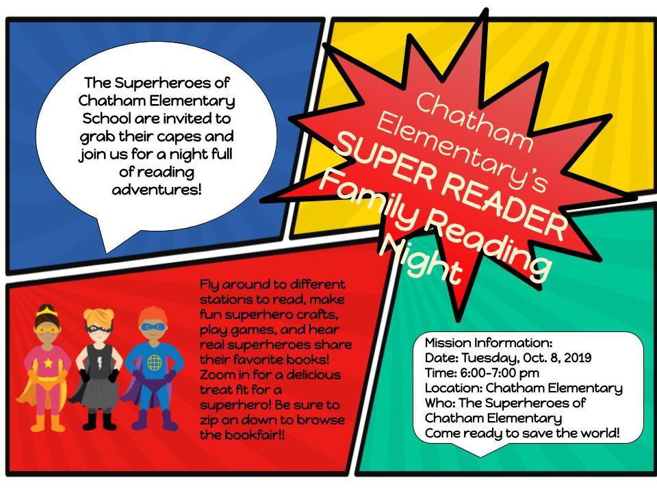 CES Super Reader Family Reading Night