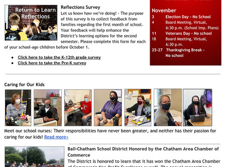 First eBulletin of the 2020-21 School Year is Out