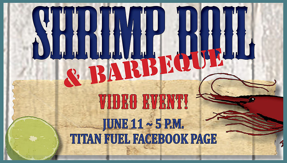 Shrimp Boil & BBQ video event graphic