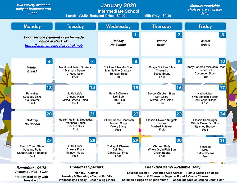 GIS Menu for January