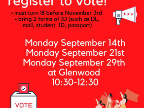 GHS Students Who are 18 Years Old Before November 3 - Register to Vote!