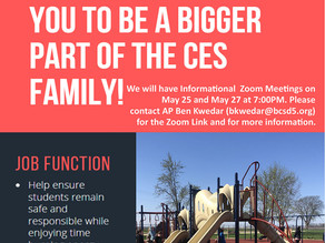 CES is Looking for Recess Supervisors...