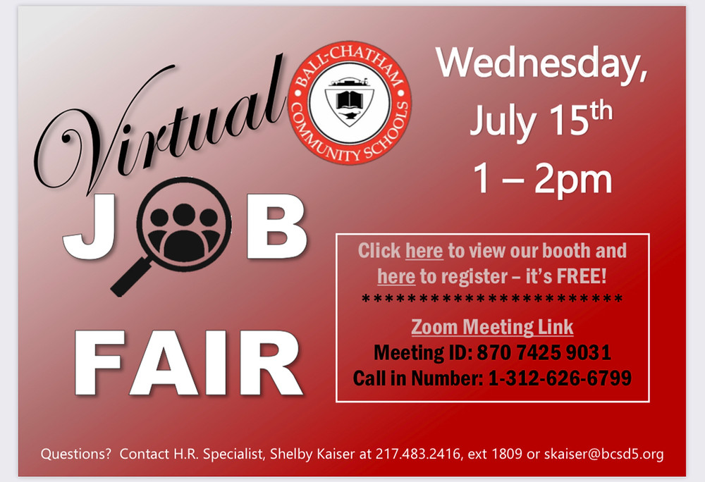 Virtual Job Fair July 15
