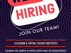 Apply to be a Classroom or Virtual Substitute Teacher Today!