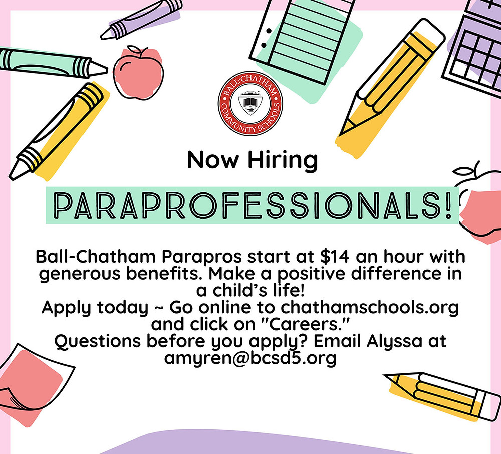 Ad looking for Paraprofessionals