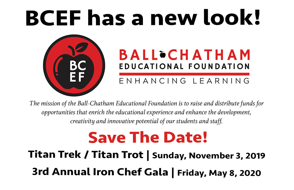 BCEF Save the Date for Titan Trek on Nov. 3 and Iron Chef on May 8