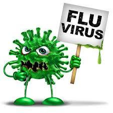Flu bug cartoon