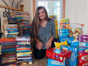 NHS Delivers Books/Snacks to Washington Middle School