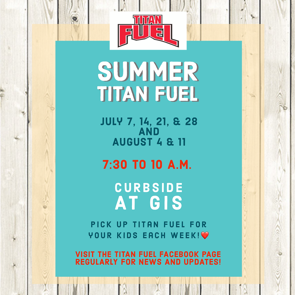 Titan Fuel continuing in July and August flyer