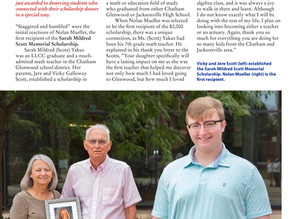 Sarah Scott Yakus Memorial Scholarship, and Recipient, GHS Grad Nolan Mueller