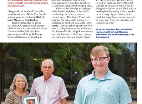 Sarah Scott Yakus Memorial Scholarship, and Recipient, GHS Grad Nolan Mueller