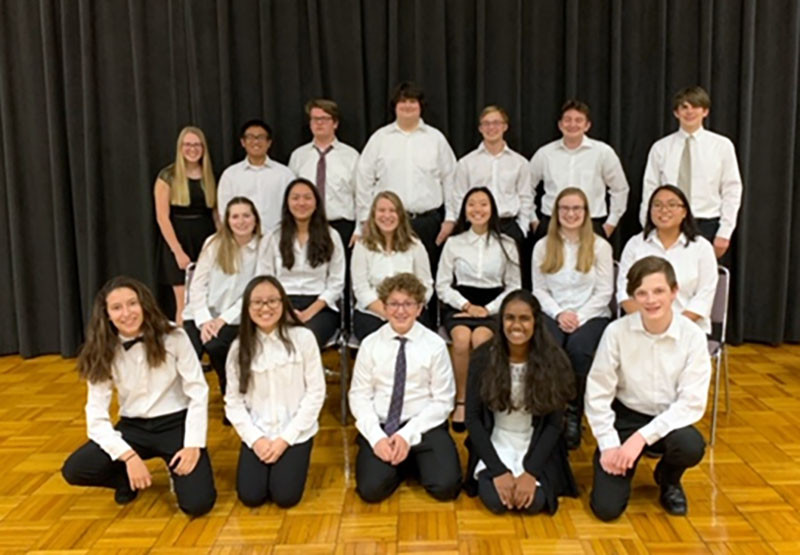 GHS band students who were accepted to perform at the IMEA Concert