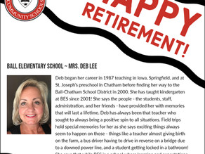 Honoring Ball Elementary School's Retirees