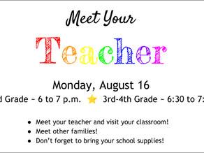 Meet Your Teacher on August 16