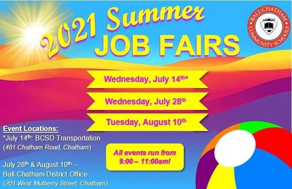 Summer Job Fairs infographic