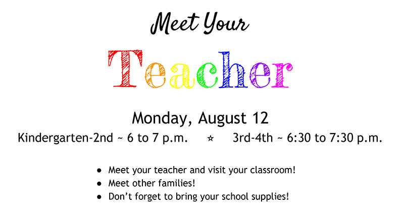 Meet Your Teacher August 12