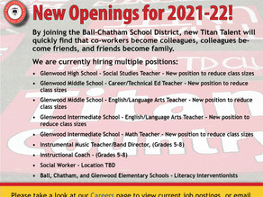 New Employment Opportunities at Ball-Chatham!
