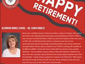 Honoring Glenwood Middle School's Retirees