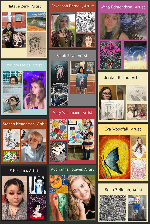 AP Art Studio Students' collage