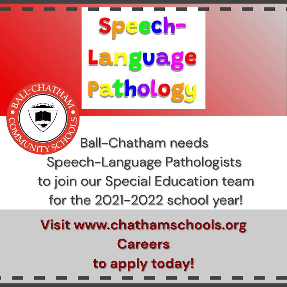 Speech-Language Pathologists Needed ad