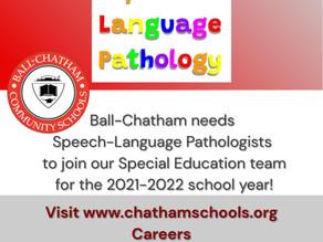 Speech/Language Pathologists Needed for 2021-22