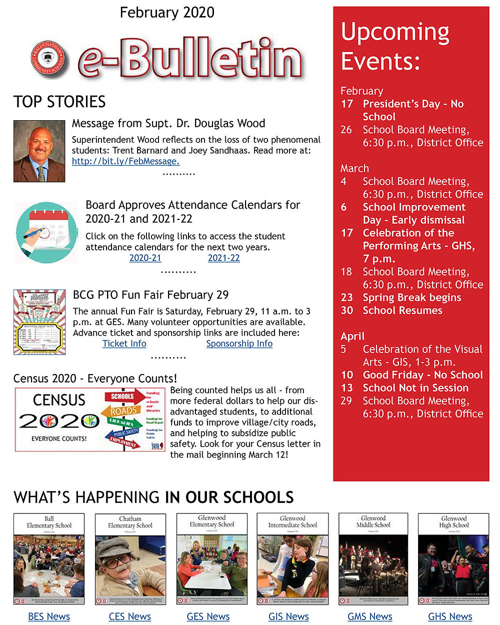 February eBulletin cover